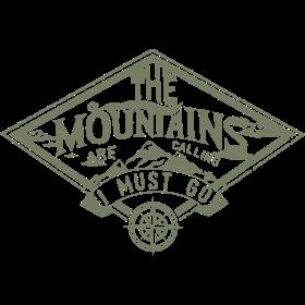 Mountain is calling - Der Berg ruft RAHMENLOS Geschenk Outdoor Sports 01 FS01