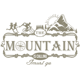 Mountain is calling - Der Berg ruft RAHMENLOS Geschenk Outdoor Sports 06 FS02