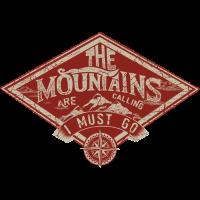 Mountain is calling - Der Berg ruft RAHMENLOS Geschenk Outdoor Sports 01 FS03
