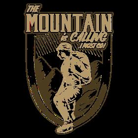 Mountain is calling - Der Berg ruft RAHMENLOS Geschenk Outdoor Sports 10 FS01