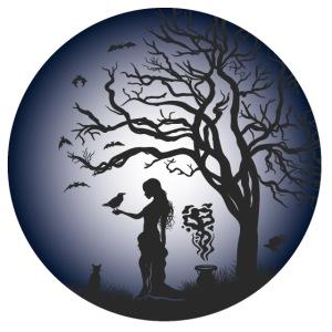 Halloween Silhouette blue