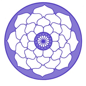 Purple Lotus Flower Mandala