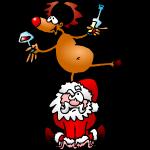 Santa and his Reindeer II