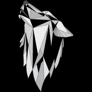 Geometrie Wolf grau