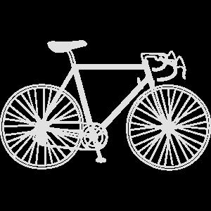 Rennrad weiß
