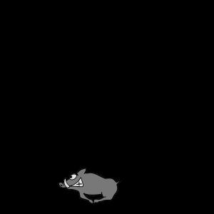 Wildschwein mit Spuren