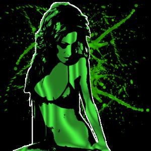 Hot Girl Poison Green