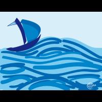 Segelschiff im Meer
