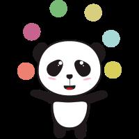 Jonglieren Zirkus Panda
