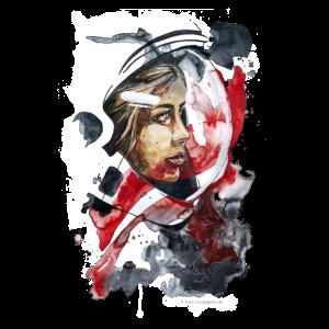 Kosmonaut Portrait Frau by carographic