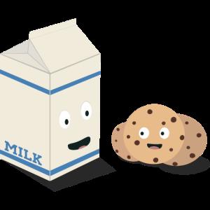 Cookies und Milch am besten Freunde