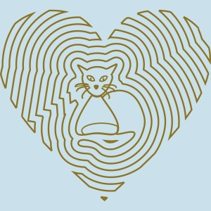Katzen Spirale Linie
