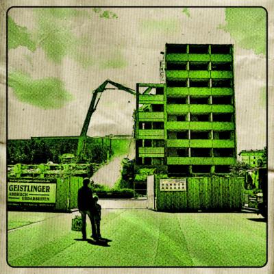 aBriss Grün Magdeburg - Abriss vom Blauen Bock in Magdeburg in Grün im Comicstyle - Popart,Pixelart,Magdeburg,Lost Places,Comicstyle,Architektur