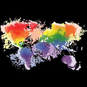 Regenbogen Welt