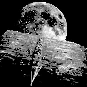 Paddeln auf Vollmondnacht
