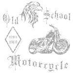 Old School Motorcycle   1960