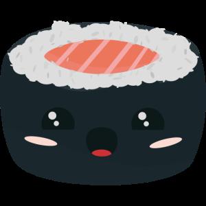 Kawaii-Sushi mit Lachs