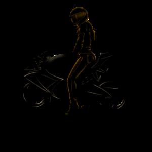 Motorradfahrerin