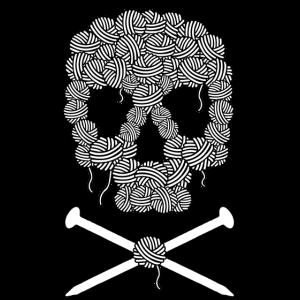 Stricker-Piraten-Schädel und Kreuzknochen