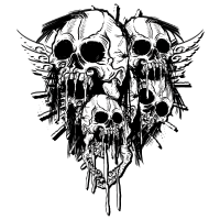 Skulls of Throne - Totenköpfe mit Flügel