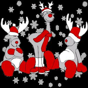 Weihnachts Elche