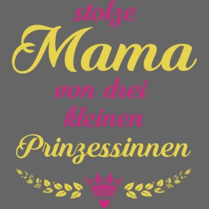 Stolze Mama von drei kleinen Prinzessinnen