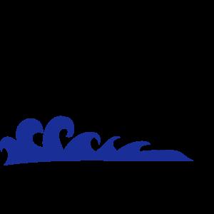 Surfer mit Wellen