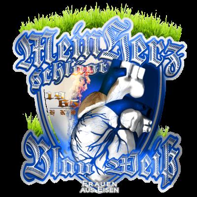 herz blau weiß burn frau - * - weiß,schlägt,mein,md 39,fcm,einmal immer,blau weiß,blau,Magdeburg,Herz,Fußball,Dom,3.liga,3 liga