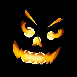 halloween kürbis horror gesicht grinsen feuer