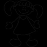 Kleine süße Puppe