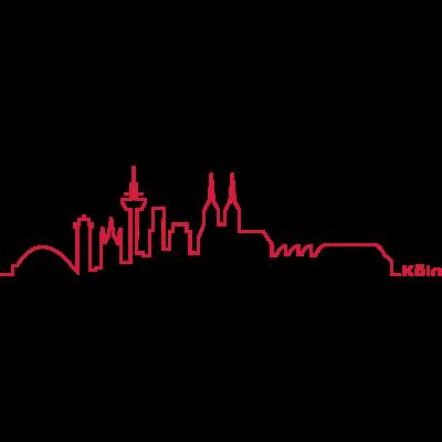 köln skyline linie - Die Kölner Skyline im Linien-Design. Für alle Kölner und Köln-Liebhaber, die Köln nicht nur wegen dem Dom lieben ... - skyline,design,cologne,barcode,Köln,Kölle