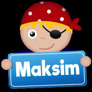 Kleiner Pirat Maksim