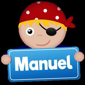 Kleiner Pirat Manuel