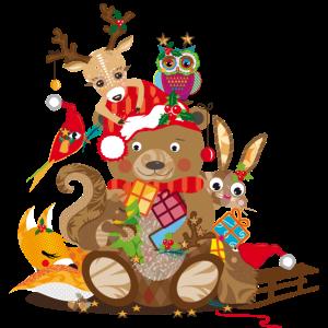 Tiere feiern Weihnachten