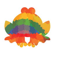 Farbiger Frosch