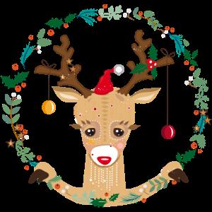Rentier in der Weihnachtszeit