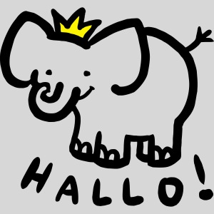 hallo elefant mit krone