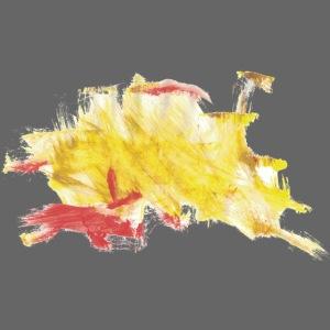 gelbes Kritzel