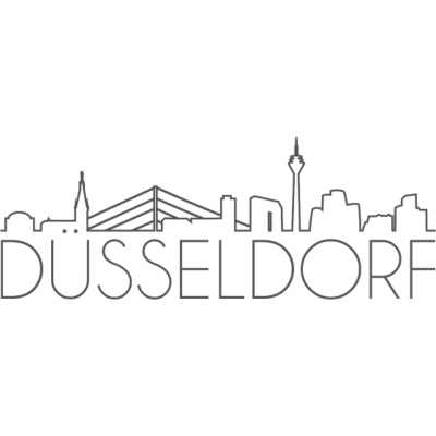 Shirt_Du--sseldorf - Düsseldorf Skyline - Grey,City,Outline,Illustration,ddorf,Düsseldorf,NRW,Skyline,Rhein