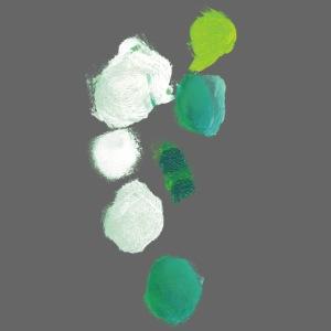 grüne Klekse