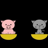 Katz wie Schwein