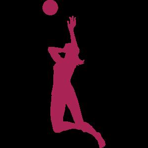 Volleyballerin im Angriff