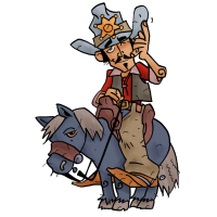 Cowboy Rick auf Muli Percy