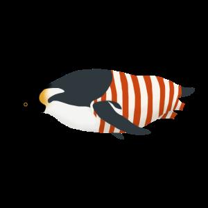 Pinguin im Badeanzug