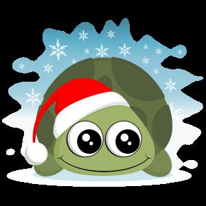 Schildkröte Weihnachten