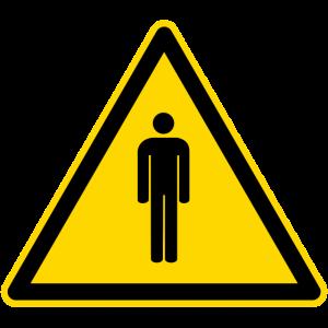 Warnschild Menschen