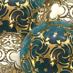 Kugeln türkis gold