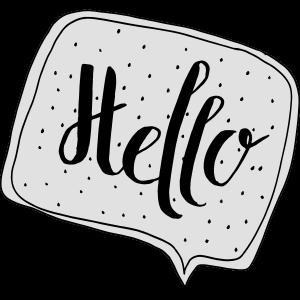 """Hello"" Sprechblase"