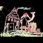 Haus, Mensch und Tiere