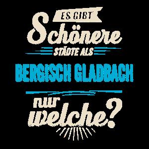 Heimat Stadt - Bergisch Gladbach - blau retro - RAHMENLOS Shirt Geschenk